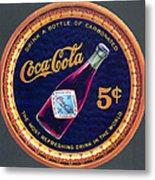 Coca - Cola Vintage Poster Metal Print