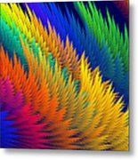 Computer Generated Abstract Fractal Flame Metal Print