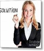 Confident Business Woman Metal Print