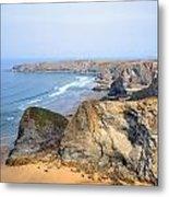 Cornwall - Bedruthan Steps Metal Print