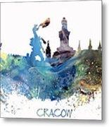 Cracow City Skyline Metal Print