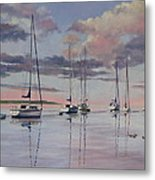 Cuttyhunk Harbor Metal Print by Karol Wyckoff
