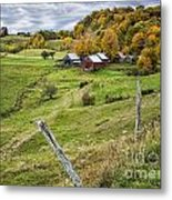 Down In The Valley Metal Print