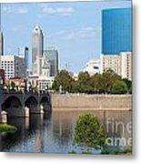 Downtown Indianpolis Indiana Skyline Metal Print