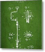 Drill Pounder Patent Drawing From 1922 Metal Print
