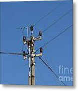 Electric Pylon Metal Print