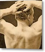 Eugen Sandow Metal Print by George Steckel
