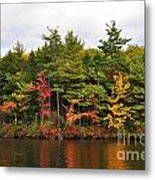 Fall Foliage In New England Metal Print