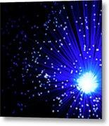 Fiber Optics On Black Background Metal Print