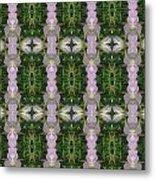Flowers From Cherryhill Nj America Silken Sparkle Purple Tone Graphically Enhanced Innovative Patter Metal Print