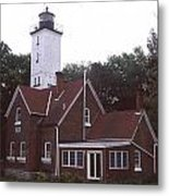 Forty Mile Point Light Metal Print