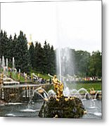 Fountain In Petergof Metal Print