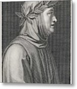 Francesco Petrarch  Italian Poet Metal Print