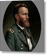 General Grant Metal Print by War Is Hell Store