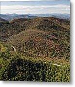 Graveyard Fields On The Blue Ridge Parkway Aerial Metal Print