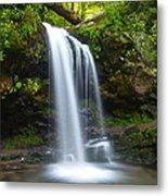 Grotto Falls Metal Print