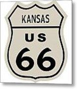 Historical Route 66 Sign Metal Print