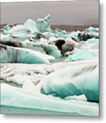 Iceberg Formations Broken Metal Print