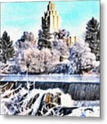 Idaho Falls Temple Metal Print