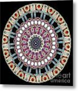 Kaleidoscope Colorful Jeweled Rhinestones Metal Print by Amy Cicconi