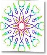 Kaleidoscope Drawing Metal Print