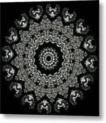 Kaleidoscope Ernst Haeckl Sea Life Series Black And White Set 2  Metal Print