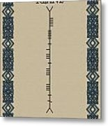 Keane Written In Ogham Metal Print
