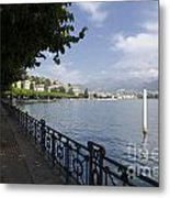 Lake Front With Trees Metal Print