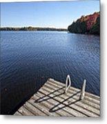 Lake In Autumn Metal Print