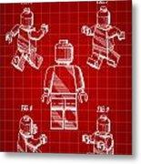 Lego Figure Patent 1979 - Red Metal Print