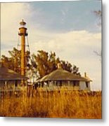 Lighthouse Landscape Metal Print