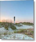 Sullivan's Island Dunes To Lighthouse View Metal Print