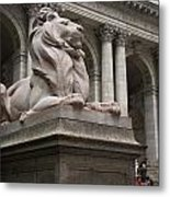 Lion New York Public Library Metal Print