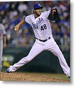 Los Angeles Dodgers V Kansas City Royals Metal Print