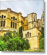 Malaga Cathedral In Andalusia Metal Print