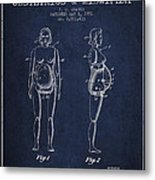 Manikin For Teaching Obstetrics And Midwifery Patent From 1951 - Metal Print