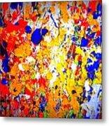 Modern Abstract Painting Original Canvas Art Wild By Zee Clark Metal Print