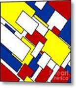 Mondrian Rectangles Metal Print