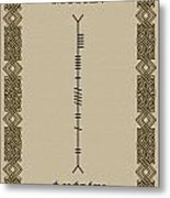 Moran Written In Ogham Metal Print