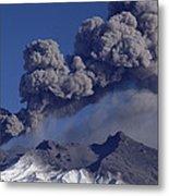 Mt Ruapehu 1996 Eruption New Zealand Metal Print