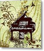 Musical Backgrounds With Instraments Metal Print