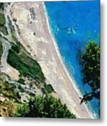 Myrtos Beach In Kefallonia Island Metal Print