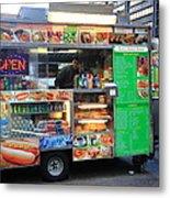 New York Street Vendor Metal Print