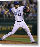 New York Yankees V Kansas City Royals Metal Print