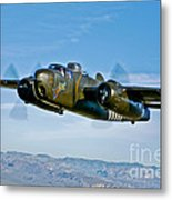 North American B-25g Mitchell Bomber Metal Print