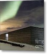 Northern Lights Iceland Metal Print