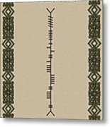 O'connor Written In Ogham Metal Print