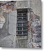 Vintage Jail Window Metal Print