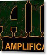Orange Amplification Outline Only Metal Print by Alexei Biryukoff