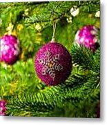 Ornament In A Christmas Tree Metal Print